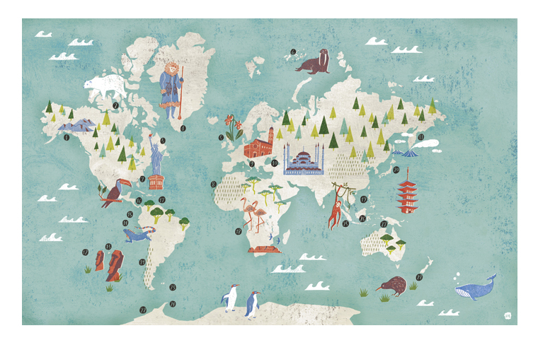'Cruise Map' The Daily Telegraph