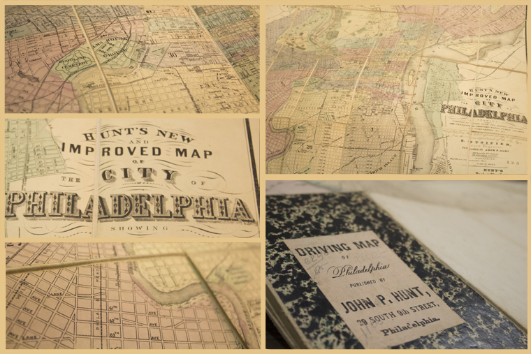 Driving Map de Philadelphia, por John P. Hunt