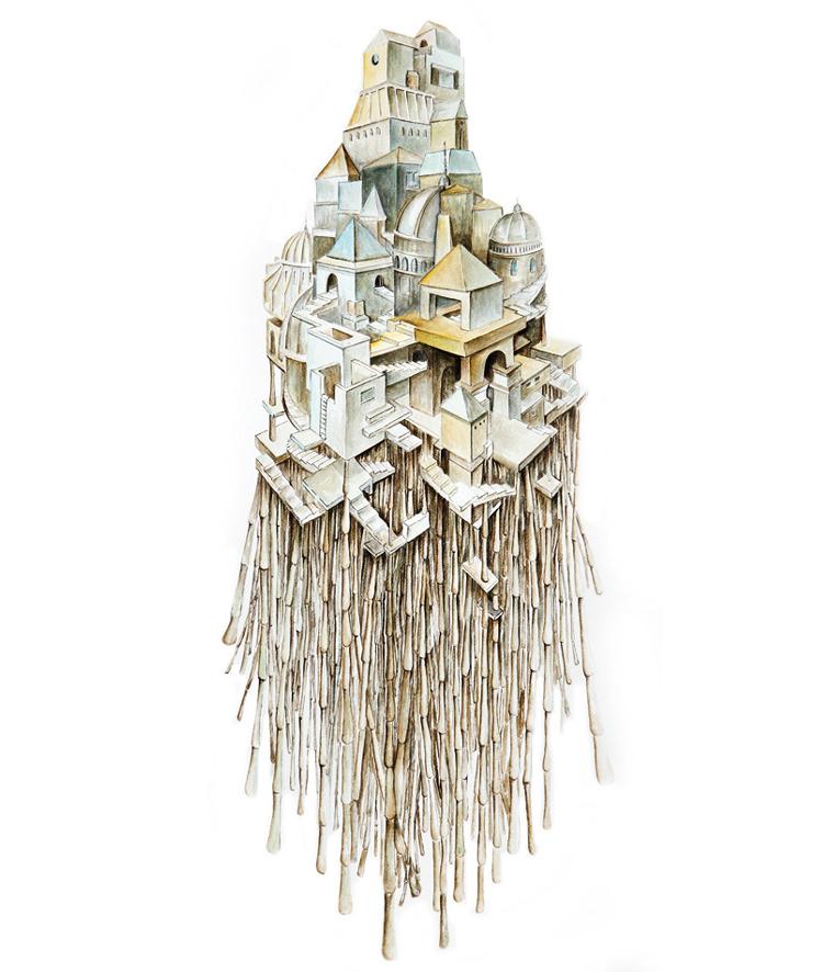 ilustracic3b3n-para-las-ciudades-invisibles-novela-de-italo-calvino-tinta-y-acuarela