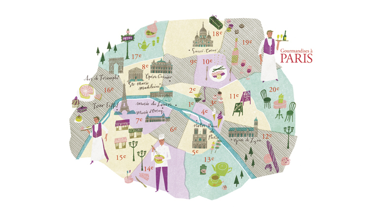 'Paris Gourmet Map' CREA Traveller
