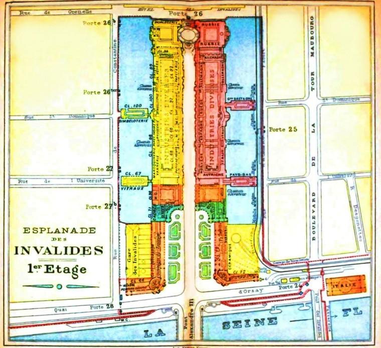 Geopolitical - Map - Europe - Paris Exposition 1900 Invalides 1em
